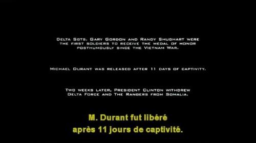 Subtitle reads: M. Durant fut libéré après 11 jours de captivité.