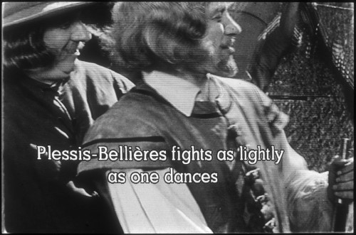 Subtitle on black-and-white still frame reads: Plessis-Bellières fights as lightly as one dances