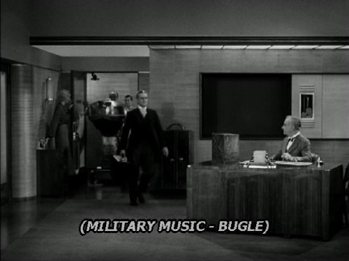 Caption, set in Verdana Italic, reads: (MILITARY MUSIC - BUGLE)
