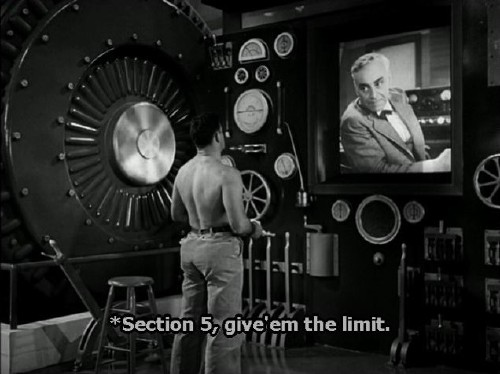 Caption reads: *Section 5, give'em the limit.