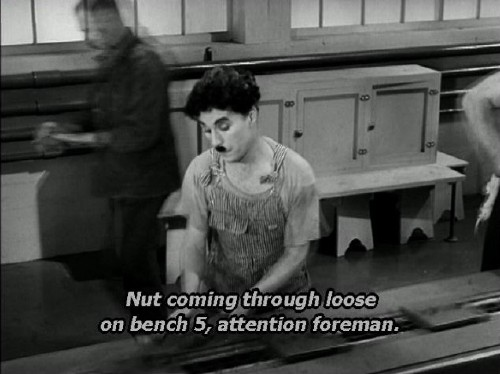 Caption, set in Verdana Italic, reads: Nut coming through loose on bench 5, attention foreman